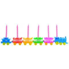 Porte-bougies train