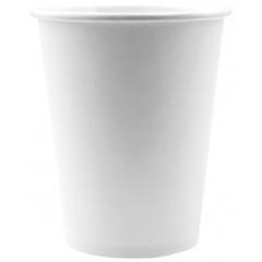 10 gobelets unis - blanc
