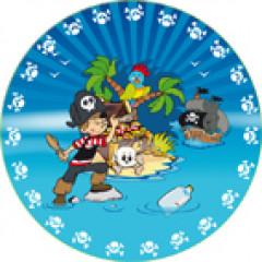6 assiettes Pirates