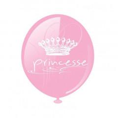 Ballon Baudruche Rose Princesse x8