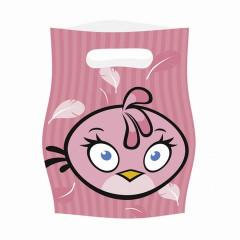 6 sacs de fête Angry Birds Pink