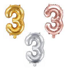 Ballon chiffre 3 - 35cm - Coloris au choix