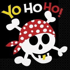 16 serviettes de table Pirate Yohoho