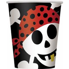 8 gobelets Pirates Yohoho 27 cl