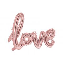 Ballon Mylar Rose Gold Love