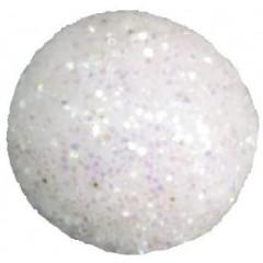 Boules pailletées blanches