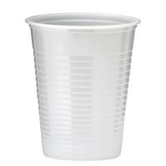 50 gobelets en plastique - blanc
