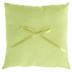 Coussin alliance nœud ruban vert