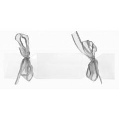 4 Boîtes à dragées bonbons avec rubans grises