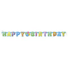 Bannière happy birthday ballons festifs - 1,65 m