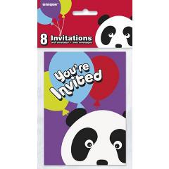 8 invitations panda