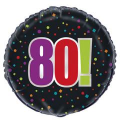 Ballon Hélium - Happy Birthday 80 ans
