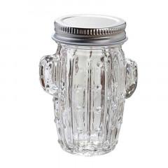 Pot dragées verre cactus jarre