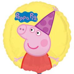 Ballon jaune Peppa Pig 43 cm