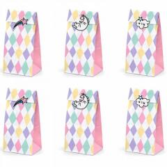6 Sachets Anniversaire Licorne Rainbow + Stickers