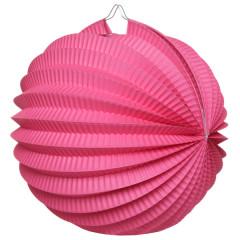 Boule déco accordéon fuchsia 2