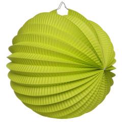 Boule déco accordéon vert anis