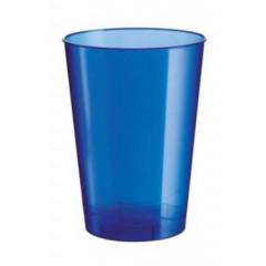 10 gobelets bleu perle transparent