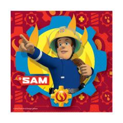 20 Serviettes Sam le pompier