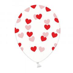 6x Ballon de baudruche coeur Heart Rouge