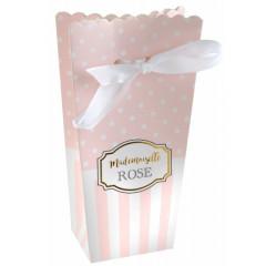 Sachets dragées mademoiselle rose X6