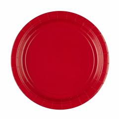 x8 Assiettes carton Rouge