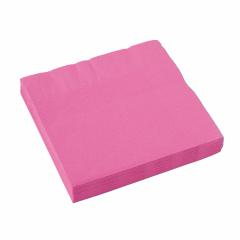 x20 Serviettes papier Rose Vif