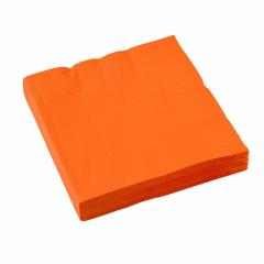 x20 Serviettes en papier Orange