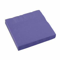x20 Serviettes en papier Violet
