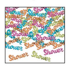 confettis shower baby shower