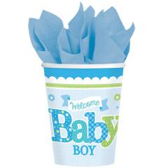 8 gobelets welcome baby boy