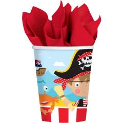 8 gobelets Pirates