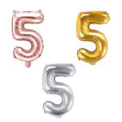 Ballon chiffre 5 - 35cm - Coloris au choix