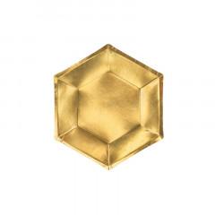 Assiette Hexagonale or x6