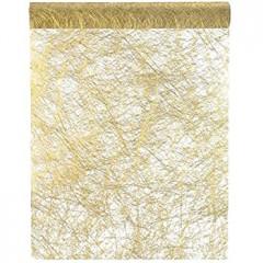 Rouleau intissé luxe - 30 cm x 5 cm - or