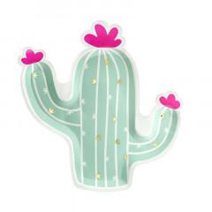 x6 Assiettes Cactus