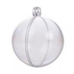 6 boules plexi transparentes - 5 cm