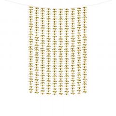 Rideau Fleurs or doré 100 x 210 cm