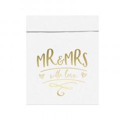 x6 boîtes en carton Mr and Mrs pour cadeaux invité