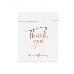 x6 boîtes en carton Thank you pour cadeaux invité