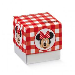 10 boites à dragées Minnie rouge