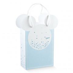 Sachet cadeaux mickey bleu ciel