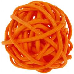 6 Petites boules en rotin oranges - 3 cm