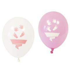 8x Ballon baby shower rose
