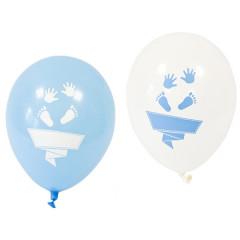 8x Ballon baby shower bleu