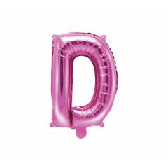 Ballon rose lettre D - 36 cm