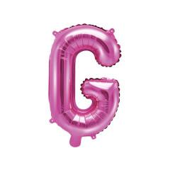 Ballon rose lettre G - 36 cm