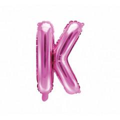 Ballon rose lettre K - 36 cm