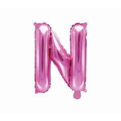 Ballon rose lettre N - 36 cm