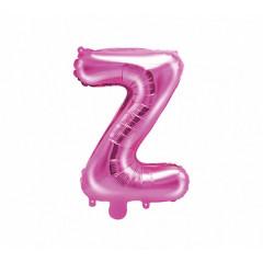 Ballon rose lettre Z - 36 cm